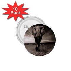 Elephant Black And White Animal 1 75  Buttons (10 Pack) by Celenk
