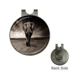 Elephant Black And White Animal Hat Clips With Golf Markers by Celenk