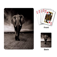 Elephant Black And White Animal Playing Card by Celenk