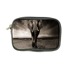 Elephant Black And White Animal Coin Purse by Celenk