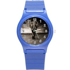 Elephant Black And White Animal Round Plastic Sport Watch (s) by Celenk