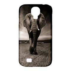 Elephant Black And White Animal Samsung Galaxy S4 Classic Hardshell Case (pc+silicone) by Celenk