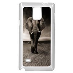 Elephant Black And White Animal Samsung Galaxy Note 4 Case (white)