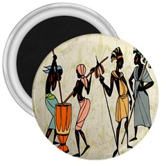 Man Ethic African People Collage 3  Magnets by Celenk