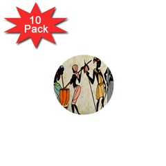 Man Ethic African People Collage 1  Mini Buttons (10 Pack)  by Celenk