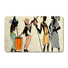 Man Ethic African People Collage Magnet (rectangular) by Celenk