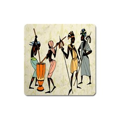 Man Ethic African People Collage Square Magnet by Celenk
