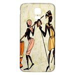 Man Ethic African People Collage Samsung Galaxy S5 Back Case (White) Front