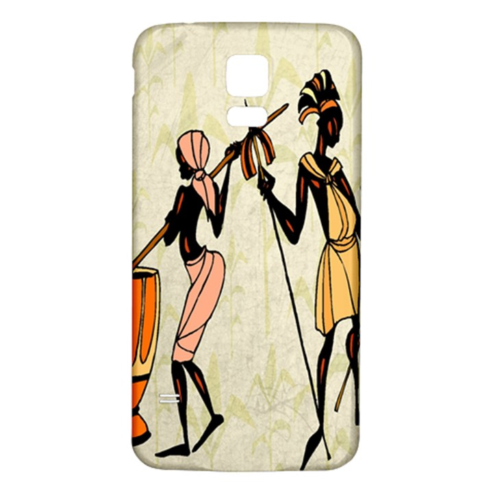 Man Ethic African People Collage Samsung Galaxy S5 Back Case (White)