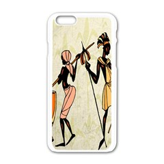 Man Ethic African People Collage Apple Iphone 6/6s White Enamel Case by Celenk