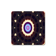 Mandala Art Design Pattern Square Magnet by Celenk