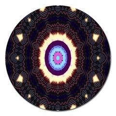 Mandala Art Design Pattern Magnet 5  (round) by Celenk