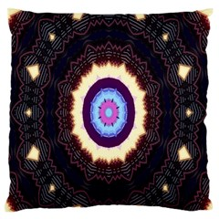 Mandala Art Design Pattern Large Flano Cushion Case (two Sides) by Celenk