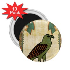Egyptian Paper Papyrus Bird 2 25  Magnets (10 Pack)  by Celenk