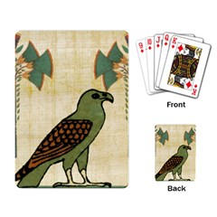 Egyptian Paper Papyrus Bird Playing Card by Celenk