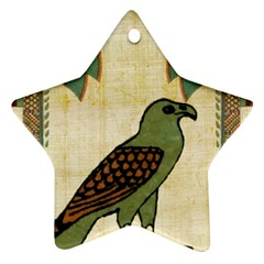 Egyptian Paper Papyrus Bird Star Ornament (two Sides)