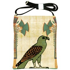 Egyptian Paper Papyrus Bird Shoulder Sling Bags by Celenk