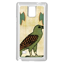 Egyptian Paper Papyrus Bird Samsung Galaxy Note 4 Case (white)