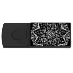 Mandala Psychedelic Neon Rectangular Usb Flash Drive by Celenk