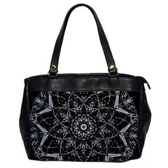 Mandala Psychedelic Neon Office Handbags by Celenk