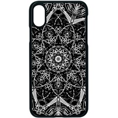 Mandala Psychedelic Neon Apple Iphone X Seamless Case (black) by Celenk