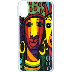 Ethnic Bold Bright Artistic Paper Apple Iphone X Seamless Case (white)