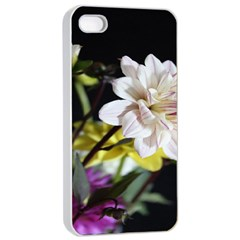 Dahlias Dahlia Dahlia Garden Apple Iphone 4/4s Seamless Case (white) by Celenk