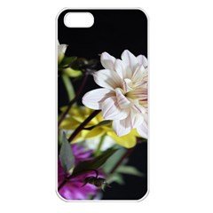 Dahlias Dahlia Dahlia Garden Apple Iphone 5 Seamless Case (white) by Celenk