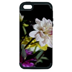 Dahlias Dahlia Dahlia Garden Apple Iphone 5 Hardshell Case (pc+silicone) by Celenk
