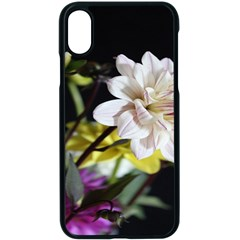 Dahlias Dahlia Dahlia Garden Apple Iphone X Seamless Case (black) by Celenk