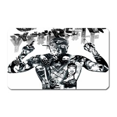 Black Music Urban Swag Hip Hop Magnet (rectangular) by Celenk