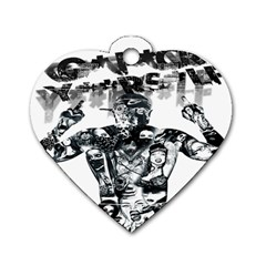 Black Music Urban Swag Hip Hop Dog Tag Heart (two Sides) by Celenk