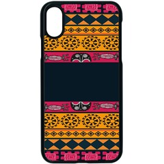 Pattern Ornaments Africa Safari Apple Iphone X Seamless Case (black)