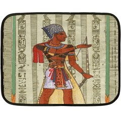 Egyptian Design Man Royal Double Sided Fleece Blanket (mini)  by Celenk