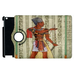 Egyptian Design Man Royal Apple Ipad 2 Flip 360 Case by Celenk