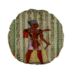 Egyptian Design Man Royal Standard 15  Premium Flano Round Cushions by Celenk