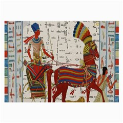 Egyptian Tutunkhamun Pharaoh Design Large Glasses Cloth by Celenk