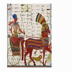 Egyptian Tutunkhamun Pharaoh Design Large Garden Flag (two Sides) by Celenk
