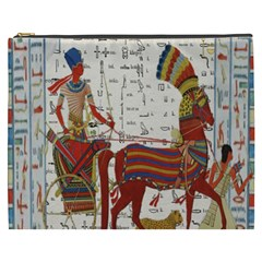 Egyptian Tutunkhamun Pharaoh Design Cosmetic Bag (xxxl)  by Celenk