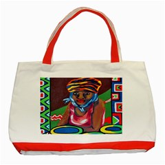Ethnic Africa Art Work Drawing Classic Tote Bag (red)