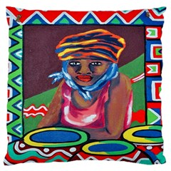 Ethnic Africa Art Work Drawing Standard Flano Cushion Case (one Side) by Celenk