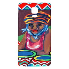 Ethnic Africa Art Work Drawing Galaxy Note 4 Back Case by Celenk