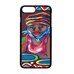 Ethnic Africa Art Work Drawing Apple Iphone 7 Plus Seamless Case (black)
