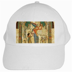 Egyptian Man Sun God Ra Amun White Cap