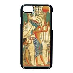 Egyptian Man Sun God Ra Amun Apple Iphone 7 Seamless Case (black) by Celenk