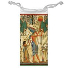 Egyptian Man Sun God Ra Amun Jewelry Bag by Celenk