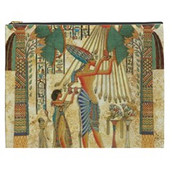 Egyptian Man Sun God Ra Amun Cosmetic Bag (xxxl)  by Celenk