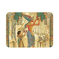 Egyptian Man Sun God Ra Amun Double Sided Flano Blanket (mini)  by Celenk