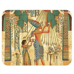 Egyptian Man Sun God Ra Amun Double Sided Flano Blanket (medium)  by Celenk
