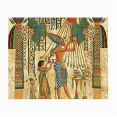 Egyptian Man Sun God Ra Amun Small Glasses Cloth by Celenk